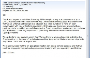 Buermeyer & Martel to Murray Email 3/12/07