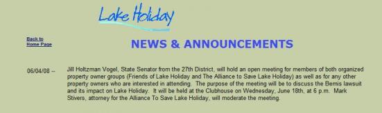 LHCC News Announcement of Vogel Meeting