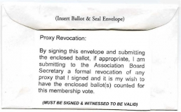 2007 Ballot Envelope