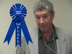 Rick Bleck Winning His 2nd Silent Sitter Award...