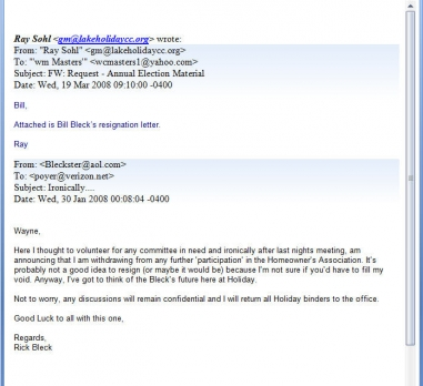 Rick Bleck Resignation Email
