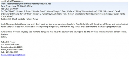 Bob Fraser Email 06/09/06
