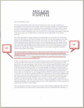 Miller and Smith Letter Pg 1