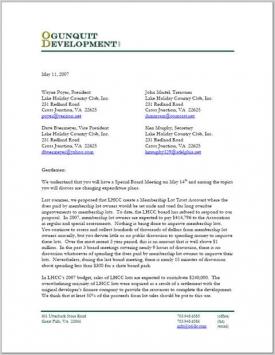 ODLLC 5/11/07 Letter Pg 1