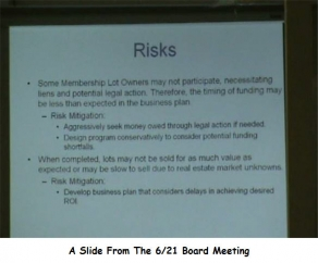Slide From the 6/21 Board Meeting